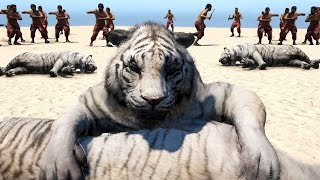 Far Cry 4 Massive Scale Battles Tigers & Elephants VS Soldiers