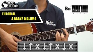 cmo tocar 4 babys de maluma ft noriel bryant myers juhn en guitarra   tutorial pdf gratis