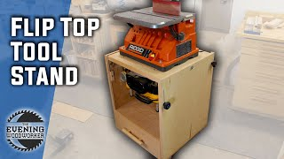 Flip Top Tool Stand with EASY Locking Mechanism | Woodworking