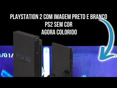 Como dar cor PS2 preto e branco Games Relembrar é Viver
