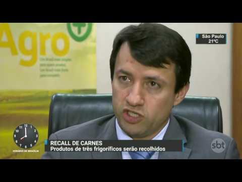 Frigoríficos terão que tirar produtos do mercado e reembolsar consumidores - SBT Brasil (24/03/17)