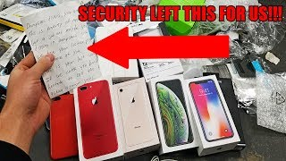 APPLE STORE SECURITY LEFT US A NOTE!! Security gets angry at us for Apple Store Dumpster Diving!