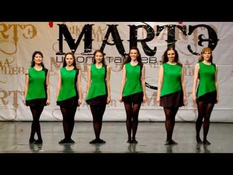 """Ирландский танец """"Reel"""" школа танцев МАРТЭ 2013г."""