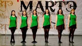 """Народные танцы мира. Ирландский танец """"Reel"""" в школе танцев МАРТЭ 2013г."""