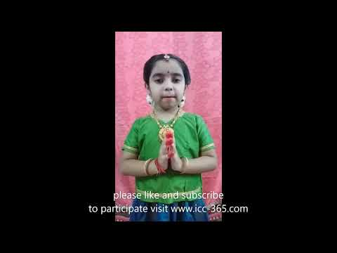 Goddess saraswathi sloka by a lil girl