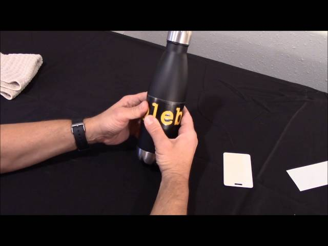 How to Apply a Vinyl Decal to a Stainless Steel Water Bottle