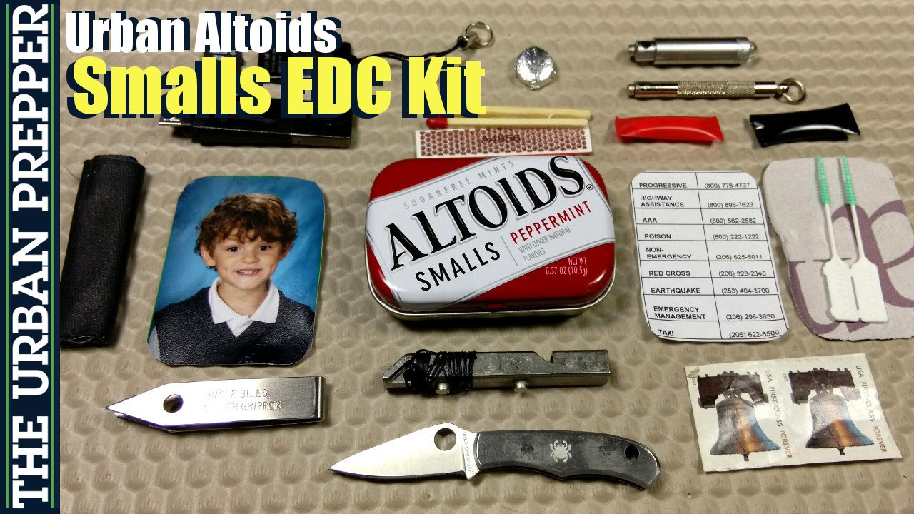 Mini Urban Altoids Edc Tin V1 0 By Theurbanprepper Youtube