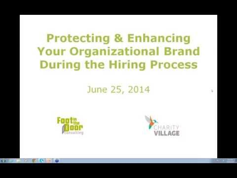 Enhancing and protecting your brand through the hiring process