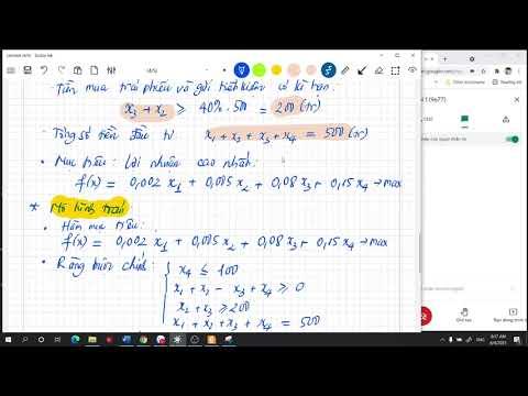 Download Toán kinh tế. Chương 1. B1: Phân tích và lập mô hình BT QHTT