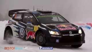 Leg 1 ( Latvala and Ogier crash) - 2015 WRC Rally Sweden -  Best-of-RallyLive.com