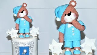Cake decorating tutorials | how to make a teddy bear cake topper | Sugarella Sweets