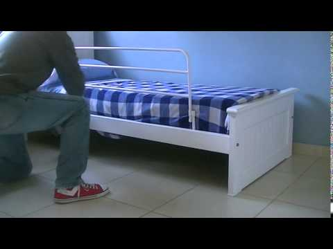 Baranda para cama ni os youtube - Hacer cama plegable pared ...