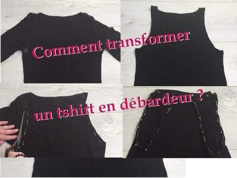 Comment transformer un t-shirt en débardeur