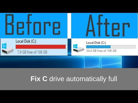 (FIXED) C drive automatically full (100% WORKING)