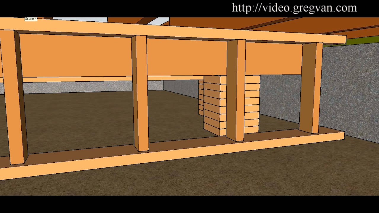 How To Install Beam in Crawlspace – Floor Framing Repairs
