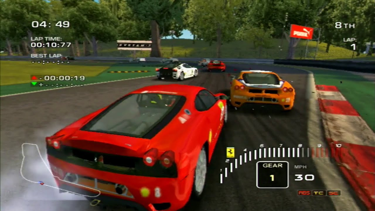 Ferrari Challenge Trofeo Pirelli Wii Gameplay Youtube
