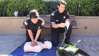 Demonstration of the automated external defibrillator (AED)