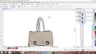 How to sketch a bag on Corel Draw 1