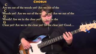 Out of The Woods (Taylor Swift) Bass Guitar Cover Lesson with Chords/Lyrics