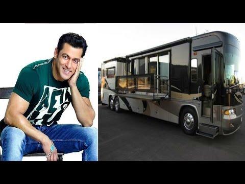 चलता फिरता महल है सलमान खान की लक्ज़री वैनिटी वैन | Salman Khan's Luxury Vanity Van