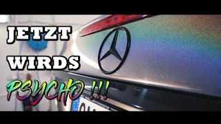 KRANK !!!  - Mercedes Benz V8 ( Carporn ) RAINBOW - PSYCHEDELIC 3M  | Folienprinz