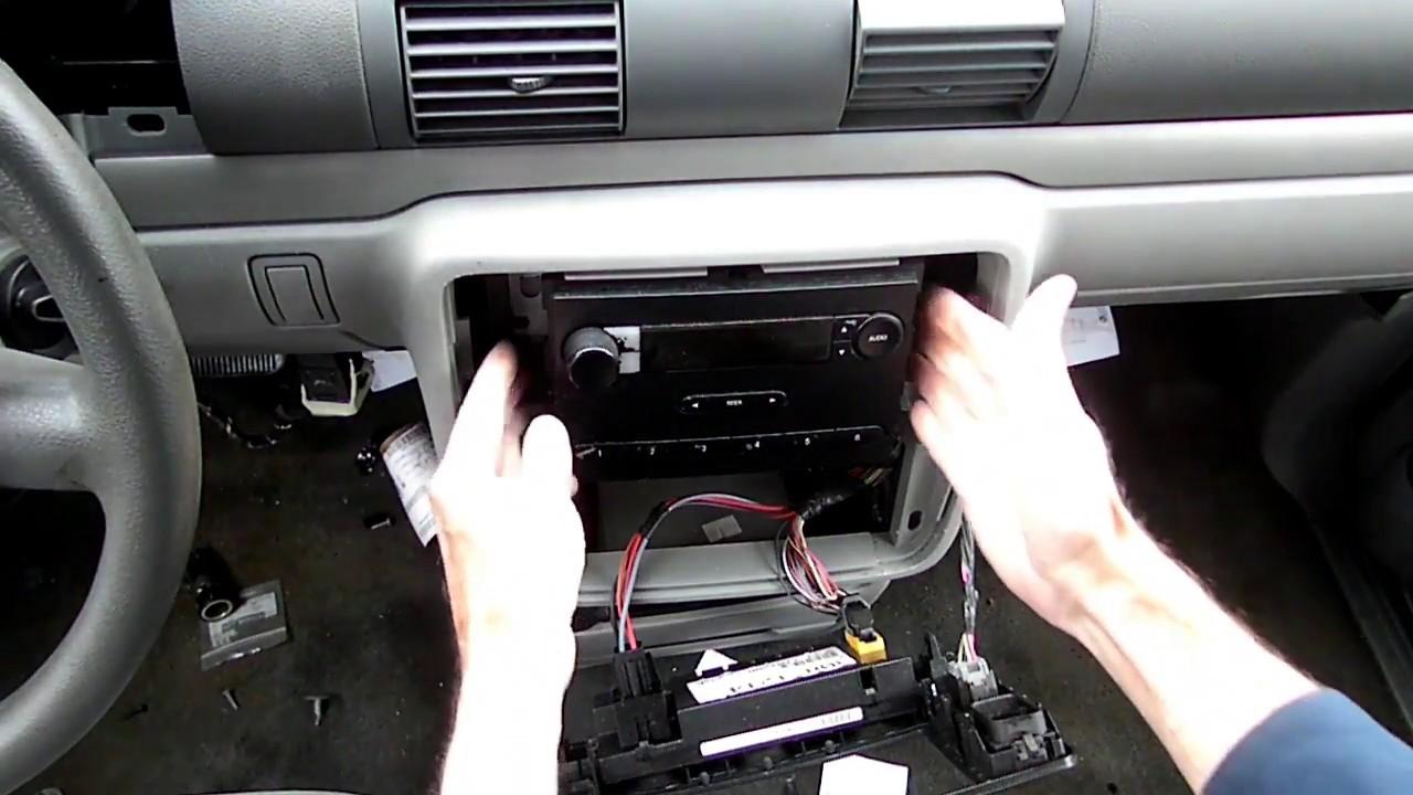 hight resolution of  ford freestar minivan radio removal youtube on ford freestar repair manual ford freestar fuel 2008 econoline radio wire