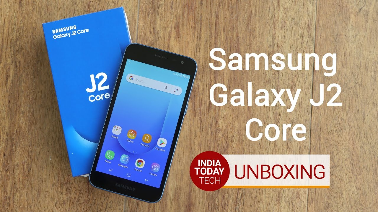 Galaxy J2 Core Unboxing And Quick Review Youtube