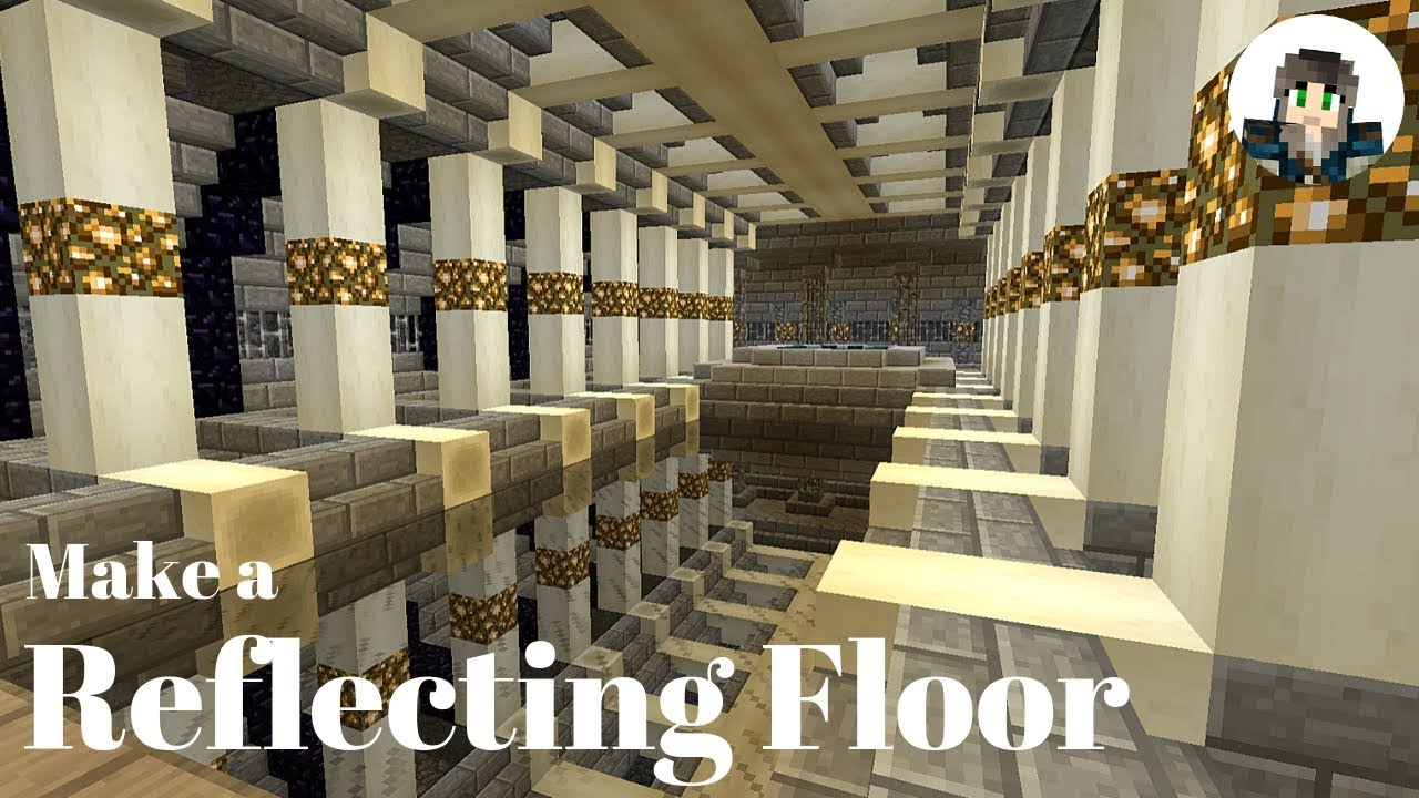 Reflecting Floor For My End Portal Roomtutorial Minecraft