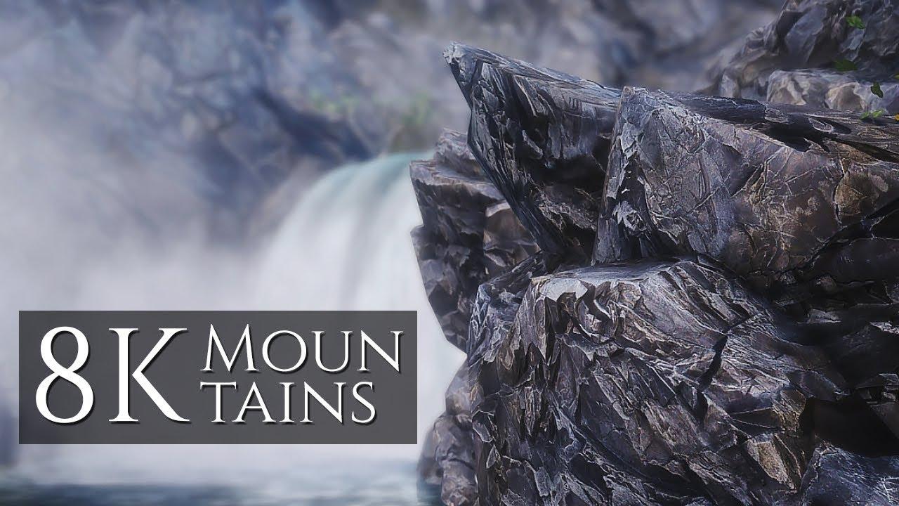 NEW 8K Mountain Textures for Skyrim SE vs Majestic Mountains (1440p)