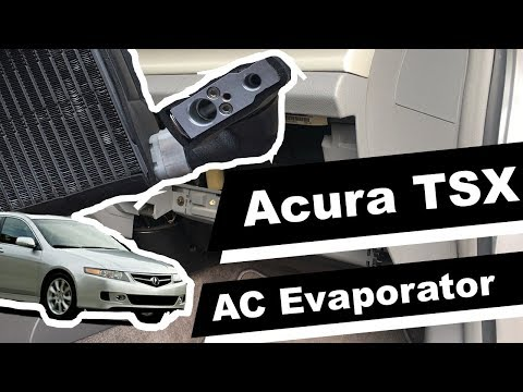 How to replace AC Evaporator and AC Expansion Valve on 2007 Acura TSX DIY instructions