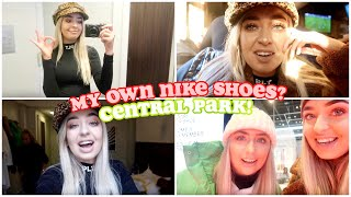 I MADE MY OWN NIKE SHOES?! Central Park & OUT LAST DAY IN NYC!! VLOGMAS DAY 10 & 11!