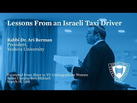 Lessons From An Israeli Taxi Driver