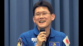 「準備は順調  自信ある」JAXA宇宙飛行士の金井宣茂さんが会見 金井宣茂 検索動画 12