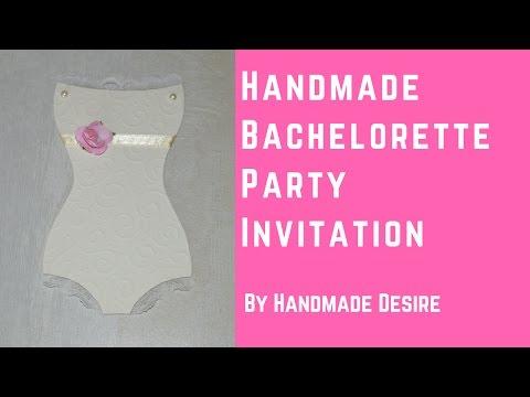 Handmade Bachelorette Party Invitations