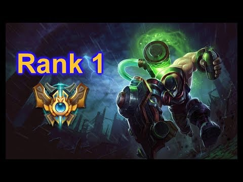 Rank 1 is a Singed main who's a Pro support player