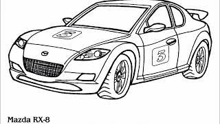 Автомобили трафареты