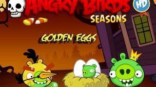 Angry Birds Seasons - Season 3 - Haunted Hogs Golden Eggs Walkthrough