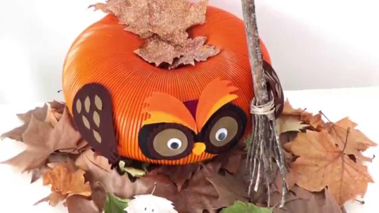 C mo hacer calabaza b ho halloween diy decoraci n - Calabazas decoradas para halloween ...