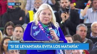Lilita carrio en el acto de cierre del oficialismo en Capital
