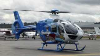 Eurocopter EC135 Helicopter Air George AMTC 2012 Seattle takeoff at KBFI