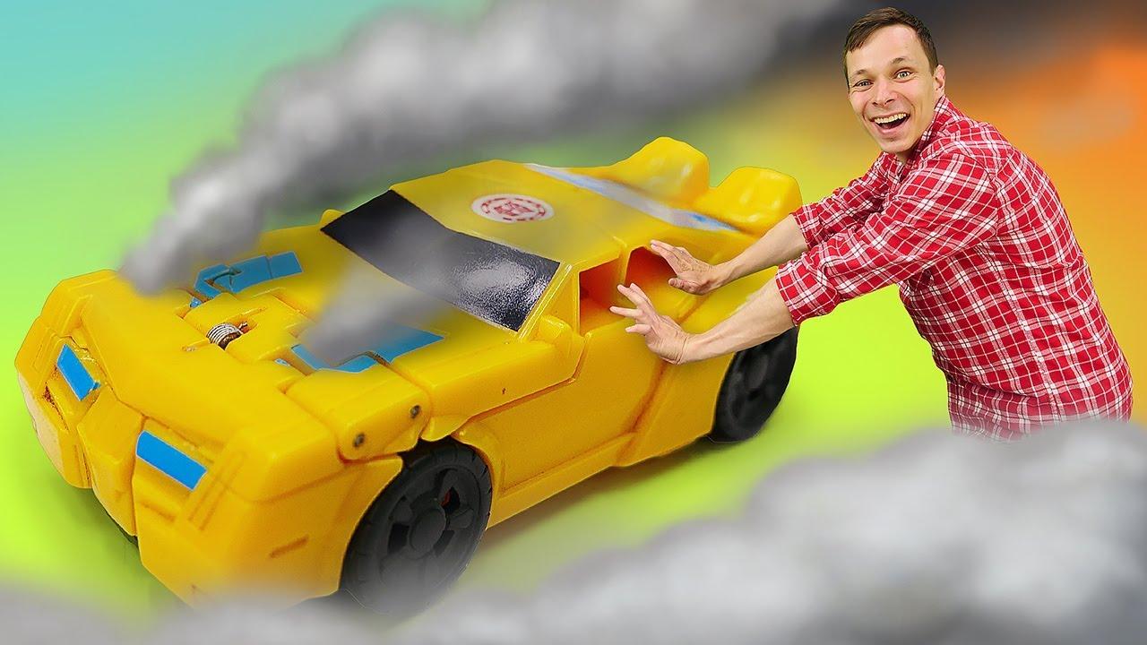 Фёдор и Бамблби чинят Трансформеры и машинки! – Игры для детей в Автомастерской.