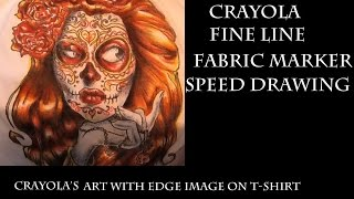 Art with Edge Sugar Skull Speed Coloring using Crayola