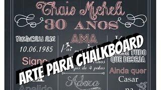 DIY   Como fazer Arte para Chalkboard - Arte personalizada