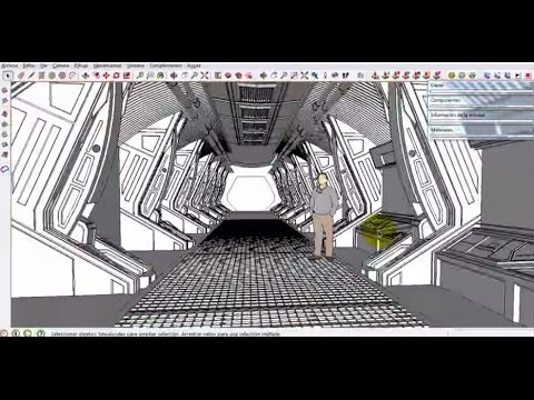 Time lapse - Spaceship - Sketchup - Modeling - (Part 04)