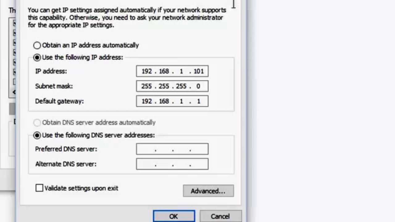 not valid ip configuration wireless