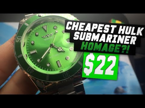 Cheapest Submariner Hulk Homage?! $22 Automatic Watch (Winner Watch Review)