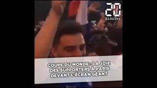 Coupe du monde : la joie des supporters à Paris devant l'écran géant