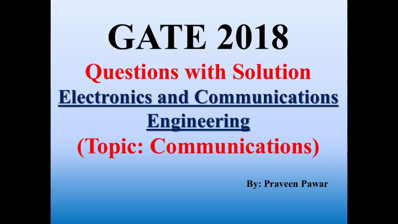 GATE-2018 ECE (Communications) Questions with Solution