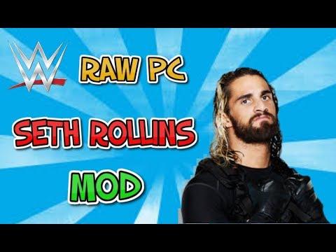 WWE RAW PC INSTALLING SETH ROLLINS MOD!