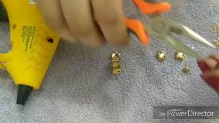 DIY//simple kundan earrings//tutorial